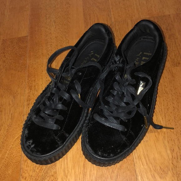 pretty nice 89551 e423d PUMA Fenty Black Suede Creepers PRICE NEGOTIABLE